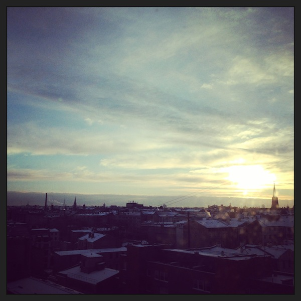 Sunrise over Riga